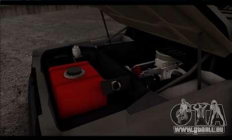 BMW M1 E26 Rusty Rebel pour GTA San Andreas vue de dessous