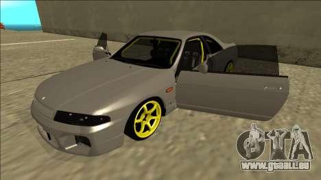Nissan Skyline R33 Drift pour GTA San Andreas vue de dessous
