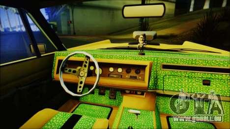 GTA 5 Vapid Chino Hydraulic Version IVF pour GTA San Andreas sur la vue arrière gauche
