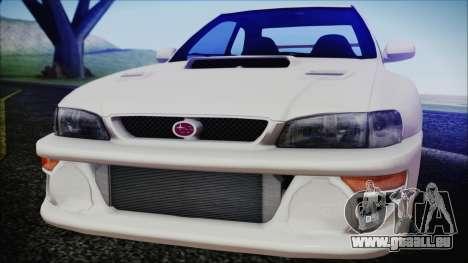 Subaru Impreza 22B STi für GTA San Andreas zurück linke Ansicht