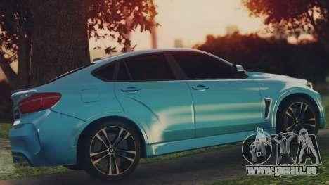 BMW X6M F86 v2.0 pour GTA San Andreas laissé vue