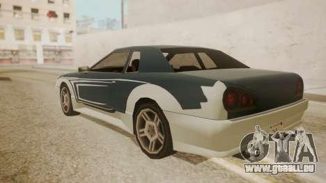 Elegy FnF Skins pour GTA San Andreas vue de dessus