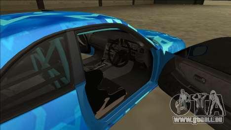 Nissan Skyline R33 Drift Blue Star pour GTA San Andreas vue de côté
