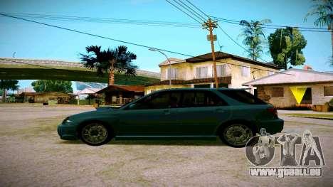 Subaru Impreza WRX STI Wagon pour GTA San Andreas laissé vue