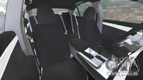 GTA 5 Lexus GS 350 F-Sport 2013 rechte Seitenansicht
