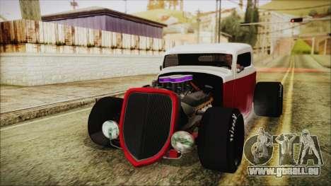 Ford 32 pour GTA San Andreas sur la vue arrière gauche