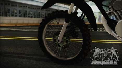 Zanella RX150 Cross pour GTA San Andreas sur la vue arrière gauche