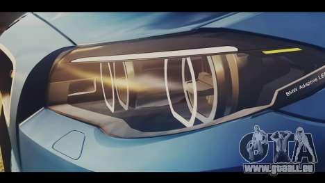 BMW M5 F10 Stock MTA Version für GTA San Andreas Rückansicht