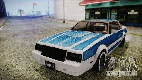 GTA 5 Willard Faction Custom Bobble Version IVF pour GTA San Andreas vue arrière