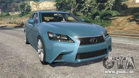 Lexus GS 350 F-Sport 2013 pour GTA 5
