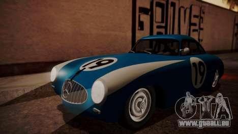 Mercedes-Benz 300 SL (W194) 1952 FIV АПП pour GTA San Andreas vue de dessous