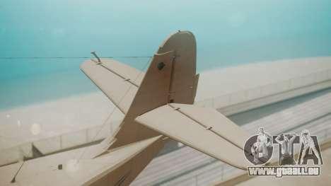 Grumman G-21 Goose WhiteBlueLines pour GTA San Andreas sur la vue arrière gauche