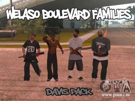 Welaso Boulevard Familis [Davis Pack] pour GTA San Andreas