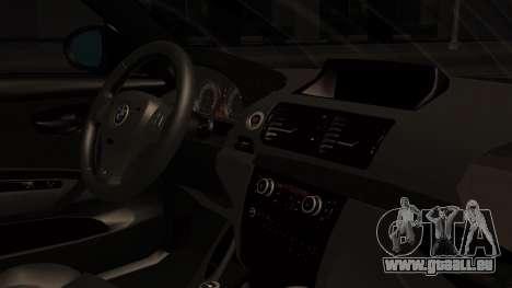 BMW 1M E82 with Sunroof pour GTA San Andreas vue de droite