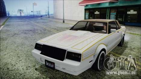 GTA 5 Willard Faction Custom Bobble Version IVF pour GTA San Andreas vue intérieure