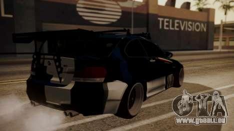 BMW 1M E82 with Sunroof pour GTA San Andreas vue de dessous
