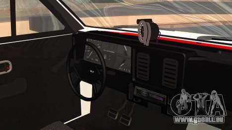 Chevrolet Chevette SLE 88 pour GTA San Andreas vue de droite