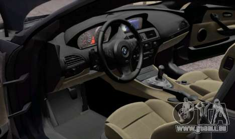 BMW M6 E63 pour GTA San Andreas vue de côté