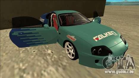 Toyota Supra Falken Drift für GTA San Andreas Unteransicht