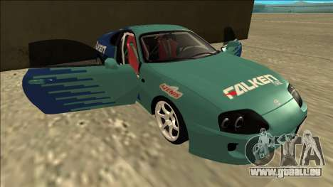 Toyota Supra Falken Drift pour GTA San Andreas vue de dessous