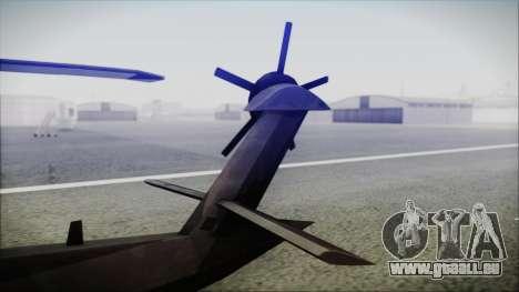 UH-80 Ghost Hawk für GTA San Andreas zurück linke Ansicht