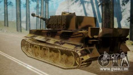 Panzerkampfwagen VI Tiger Ausf. H1 pour GTA San Andreas laissé vue
