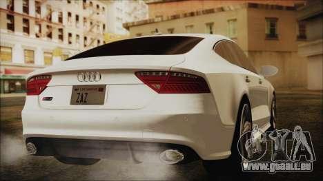 Audi RS7 Sportback 2015 pour GTA San Andreas laissé vue