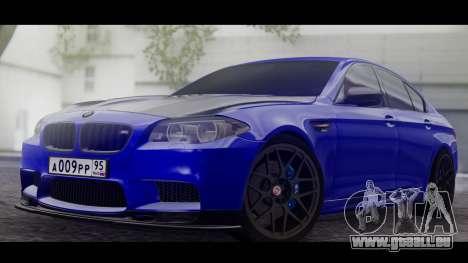 BMW M5 F10 Top Service MSK pour GTA San Andreas laissé vue