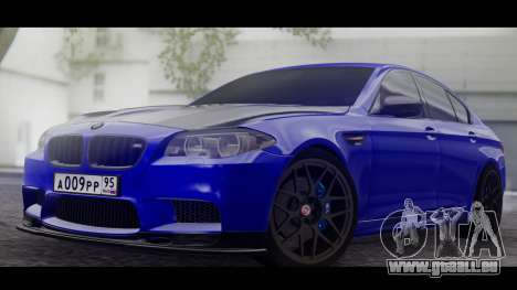 BMW M5 F10 Top Service MSK für GTA San Andreas linke Ansicht