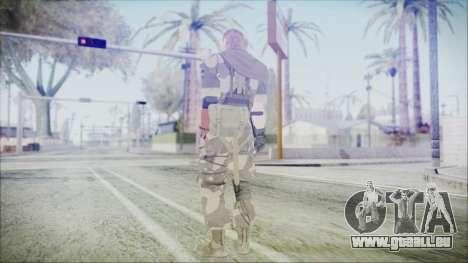 MGSV Phantom Pain Snake Scarf Splitter für GTA San Andreas dritten Screenshot
