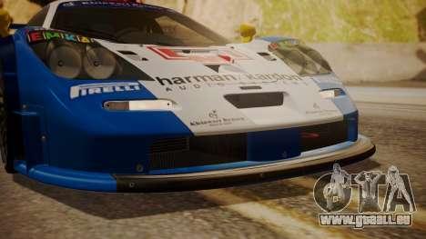 McLaren F1 GTR 1998 HarmanKardon pour GTA San Andreas vue intérieure