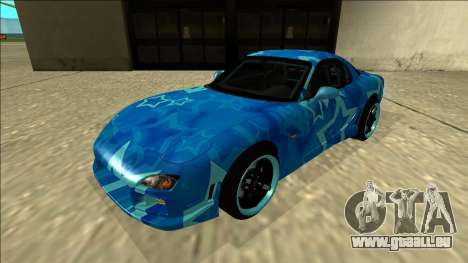 Mazda RX-7 Drift Blue Star pour GTA San Andreas