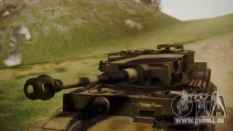 Panzerkampfwagen VI Tiger Ausf. H1 No Interior pour GTA San Andreas vue de droite
