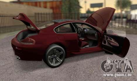BMW M6 E63 pour GTA San Andreas vue de droite