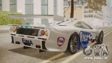 McLaren F1 GTR 1998 Team BMW pour GTA San Andreas laissé vue