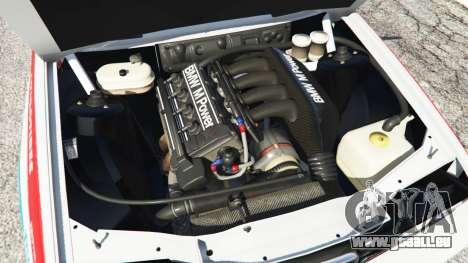 GTA 5 BMW M3 (E30) 1991 [Z5] v1.2 arrière droit vue de côté
