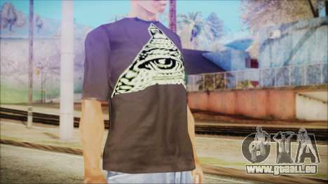 Illuminati T-Shirt pour GTA San Andreas troisième écran