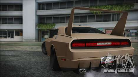 Dodge Challenger Daytona pour GTA San Andreas laissé vue