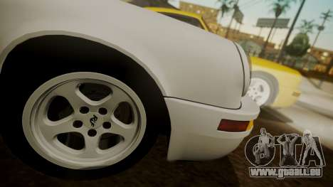 RUF CTR Yellowbird (911) 1987 HQLM pour GTA San Andreas sur la vue arrière gauche