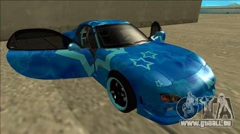 Mazda RX-7 Drift Blue Star pour GTA San Andreas vue de dessous