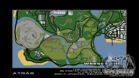 HD Carte Radar pour GTA San Andreas quatrième écran