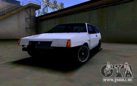 VAZ 2108 V2 pour GTA San Andreas vue arrière