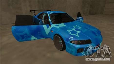 Nissan Skyline R33 Drift Blue Star pour GTA San Andreas moteur