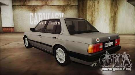 BMW 325i E30 pour GTA San Andreas laissé vue