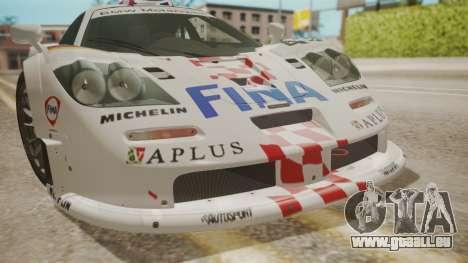 McLaren F1 GTR 1998 Team BMW pour GTA San Andreas vue de côté