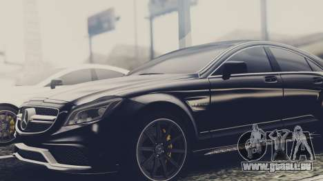 Mercedes-Benz CLS 63 AMG W218 für GTA San Andreas zurück linke Ansicht