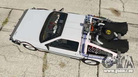 GTA 5 DeLorean DMC-12 Back To The Future vue arrière