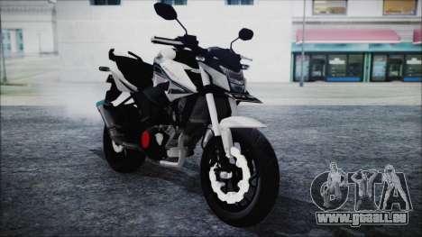 Honda CB150R White für GTA San Andreas rechten Ansicht