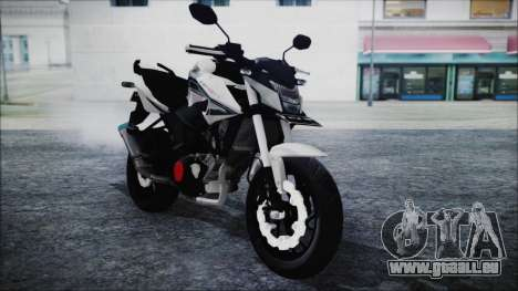 Honda CB150R White pour GTA San Andreas vue de droite