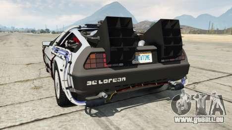 GTA 5 DeLorean DMC-12 Back To The Future arrière vue latérale gauche